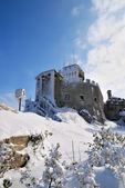Castle in the snow — Stock Photo
