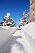Vehicle snowplow — Stock Photo