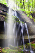 Waterfall in the natural park — Stock Photo