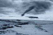 Hurricane near the beach — Stock Photo