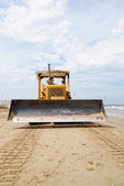 In front of the bulldozer — Foto Stock