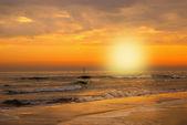 海の向こうの曇り空 — ストック写真