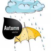 Antecedentes de la temporada de lluvias — Vector de stock