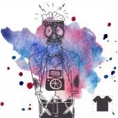 Fond de hipster dans un style rétro — Vecteur