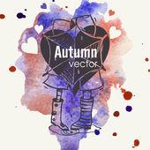 Autumn Season Concept — Stock Vector