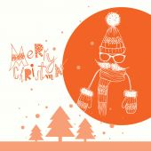 Christmas Background on Hipsters Style — Stock Vector