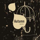 Sonbahar sezonu kavramı — Stok Vektör