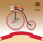 иллюстрации старинных велосипедов — Cтоковый вектор