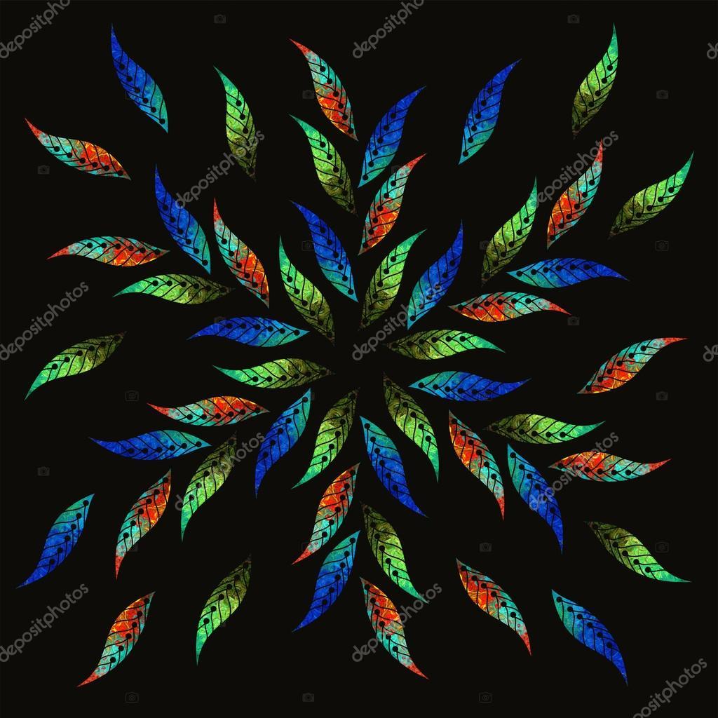 pittura ad olio fiori immagine di sfondo luminoso con colori ad olio mosaico