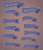 şerit afiş koleksiyonu — Stok Vektör