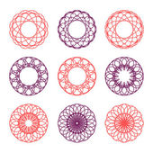 Collection of round ornaments — Stock Vector