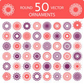 Round color ornament set — Stock Vector