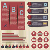 Set of logistic infographic elements — Stockvektor