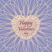 Happy valentines day greeting card design — Vector de stock