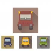 Tipper truck flat icon — Stockvektor