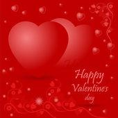 Счастливый день Святого Валентина приветствие дизайн карты — Cтоковый вектор
