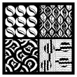 Set of four hand drawing zentangle patterns — Stock Vector #70630769