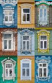 Rusland. De ramen van de stad Soezdal. — Stockfoto