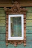 Rostov the Great. Window with carved architraves — Stock Photo