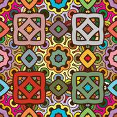 Vektor sömlös abstrakt kalejdoskop symmetriska mönster i naturen färger — Stockvektor