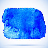 Grunge watercolor background blue paint stain with shadow — Stock Vector
