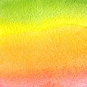 Watercolor green, orange, yellow and pink gradient background — Stock Vector