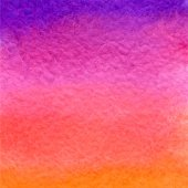 Watercolor purple, pink and orange gradient background — ストックベクタ