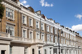 Row of typical houses in London — Stock Photo