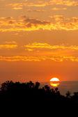 Východ slunce v noci — Stock fotografie