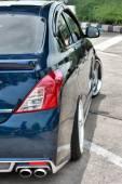 Blue ECO Car Sedan in VIP Style — Stockfoto
