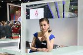 Pretty girl in the 36th Bangkok International Motor Show 2015 — Stock Photo
