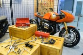 Motorcycle with tools in the 36th Bangkok International Motor Show 2015 — Stock Photo