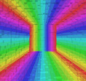 Colorful rainbow abstract background, 3d block style — Stock Photo