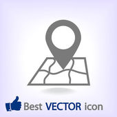 Map with pointer icon — Stock Vector