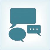 Icône de bulles de parole — Vecteur