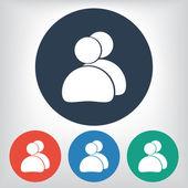Icône de contacts — Vecteur