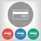 Bank credit card icon — Stock Vector