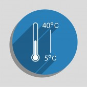 Thermometer icon — Stock Vector