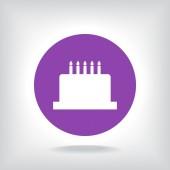 Icona di torta di compleanno — Vettoriale Stock