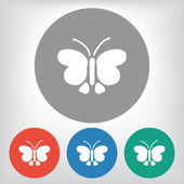 Icono de la mariposa — Vector de stock