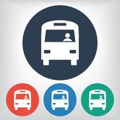 автобусная иллюстрация символа — Cтоковый вектор