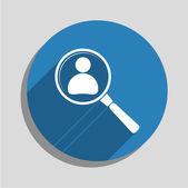 Auf der Suche nach einem Mitarbeiter suchen-Symbol — Stockvektor