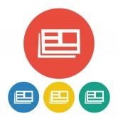 Newspaper icon — Cтоковый вектор