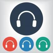 Headphones icon — Stock Vector
