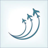 Airplane symbol — Stock Vector