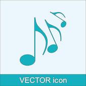 Hudební ikona — Stock vektor