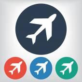 Símbolo de avión — Vector de stock