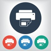 Printer icon illustration — Stock Vector