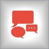 Speech bubbles icon — Stock Vector
