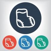Children sock icon — Stock Vector